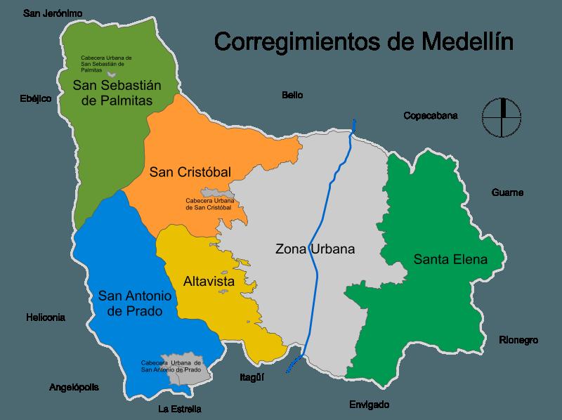 Corregimientos de Medellín – vive la ruralidad