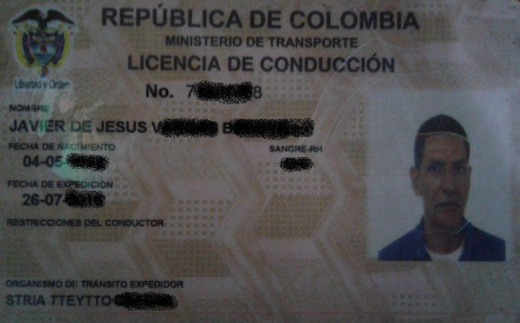 Licencia De Coduccion Javier De J V Bedoya