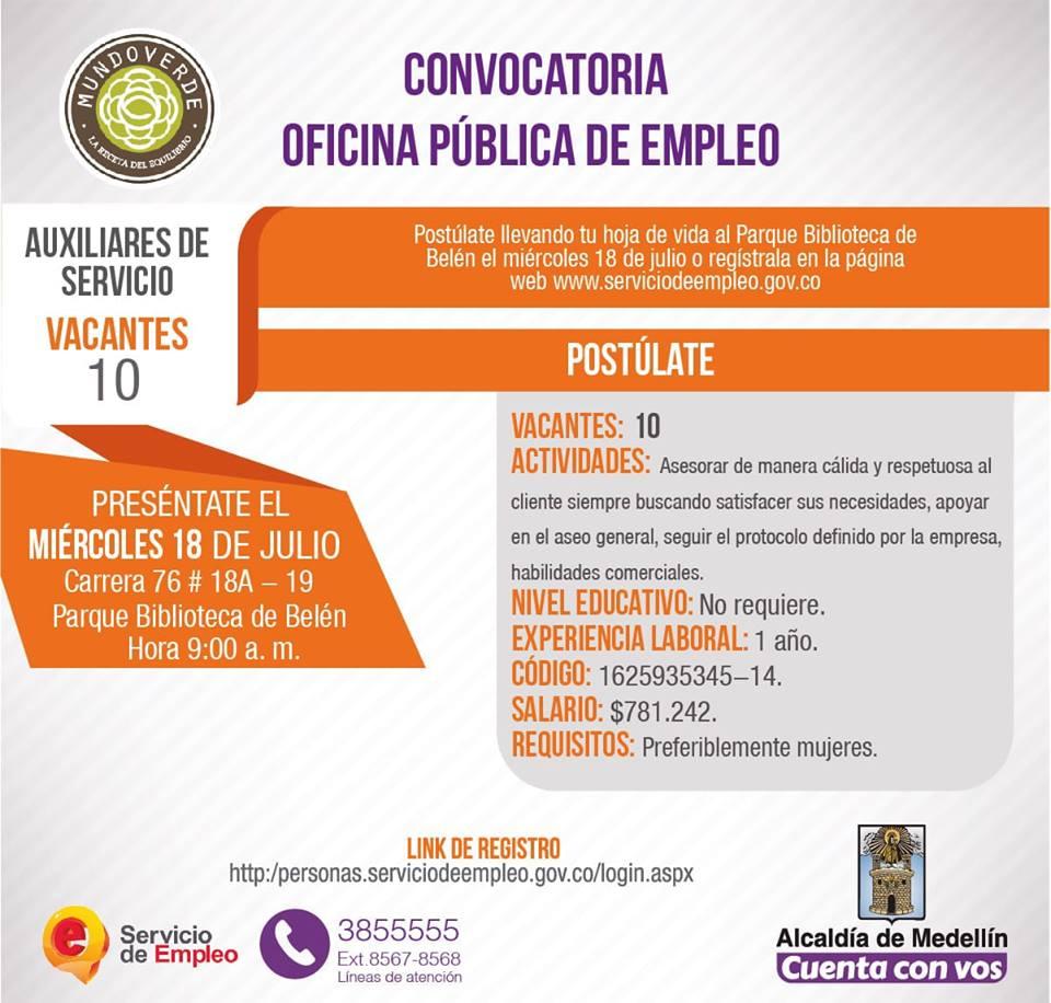 Convocatoria Publica De Empleo Alcaldia De Medellin 2