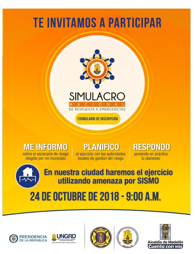 Invitación A Participar En El Simulacro Nacional