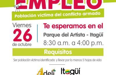 Vacantes De Trabajo Para Víctimas De Itagüí, Caldas, Sabaneta, Envigado Y La Estrella