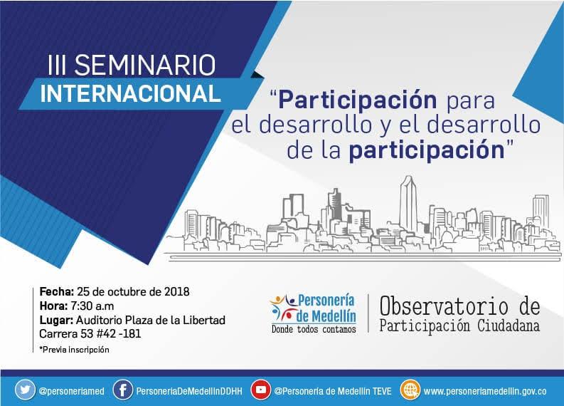Seminario Internacional,  Participación Para El Desarrollo Y El Desarrollo De La Participación