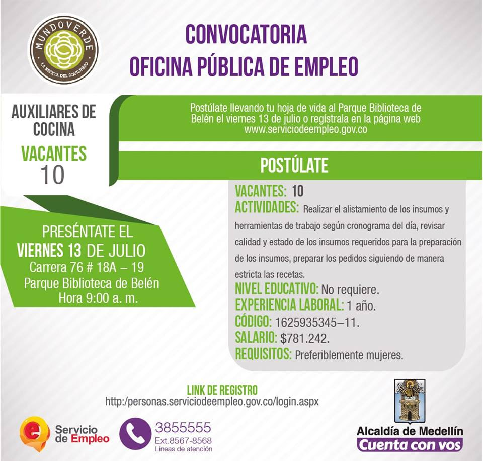 Convocatoria Publica De Empleo Alcaldia De Medellin 1