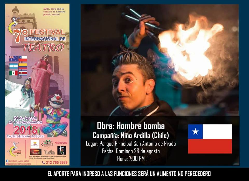 Festival Internacional De Teatro Domingo 26 De Agosto 7 Pm