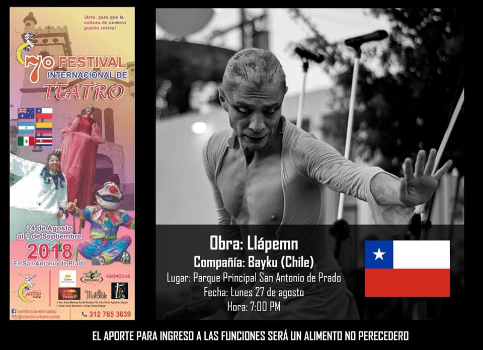 Festival Internacional De Teatro Lunes 27 De Agosto 7 Pm