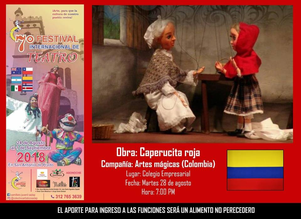 Festival Internacional De Teatro Martes 28 De Agosto 7 Pm