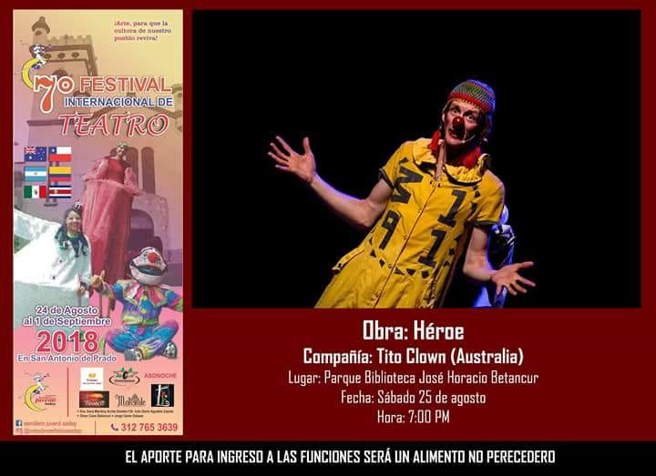 Festival Internacional De Teatro Sabado 25 De Agosto 7 Pm