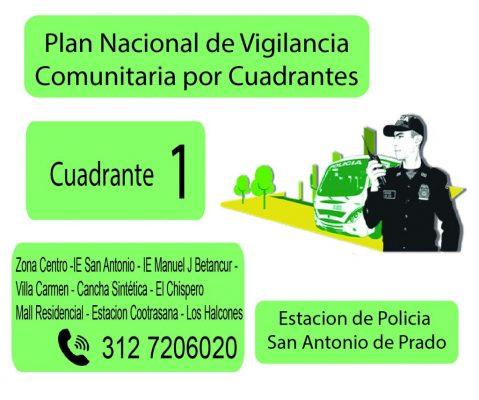 Conozca Su Cuadrante De La Policía En San Antonio De Prado