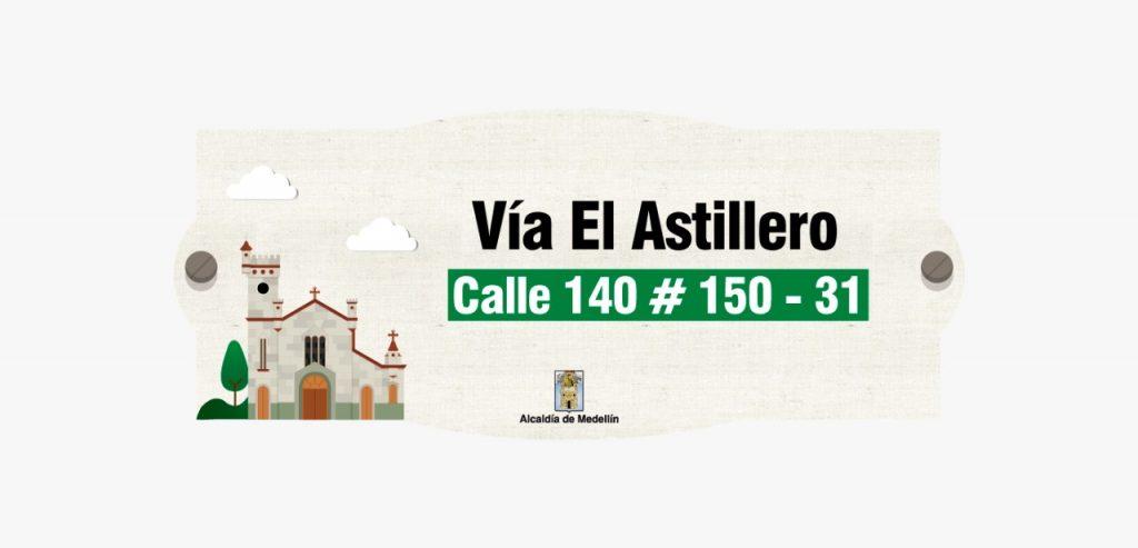 Diseño placas nomenclatura veredas San Antonio de Prado 1