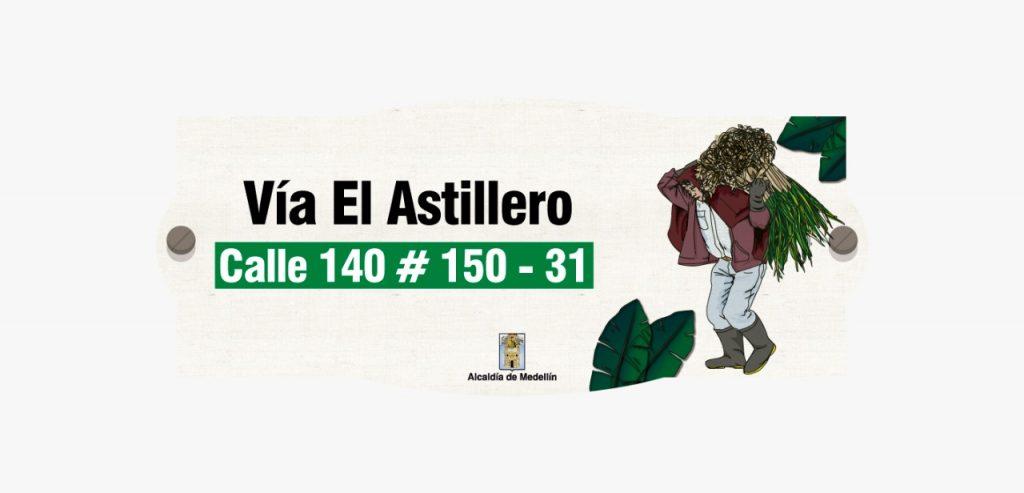 Diseño placas nomenclatura veredas San Antonio de Prado 2