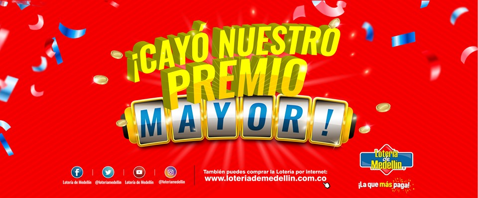 Lotería de Medellin premio mayor