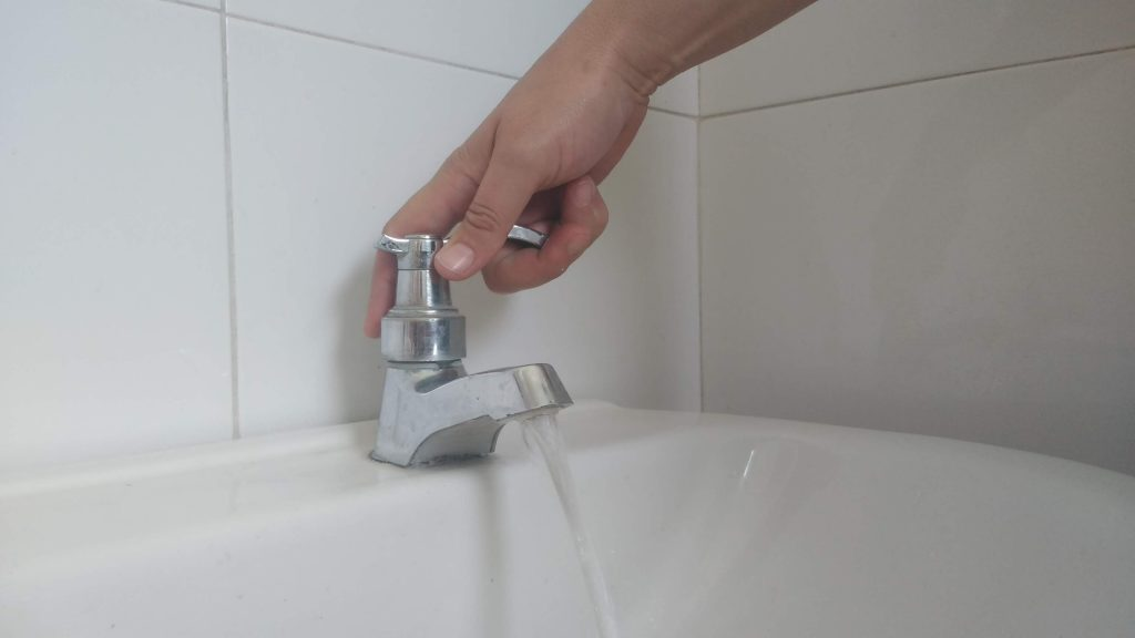 Suspensión del servicio de agua