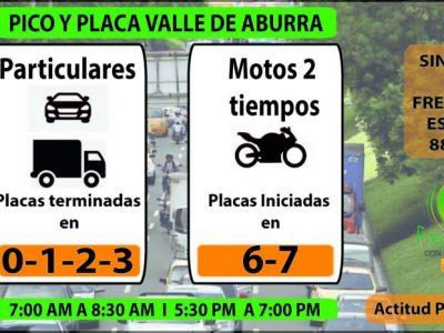 Este Es El Pico Y Placa Para Hoy Miercoles En Medellin Y El Valle De Aburrá