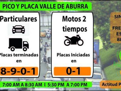 Este Es El Pico Y Placa Para Hoy Viernes En Medellin Y El Valle De Aburrá