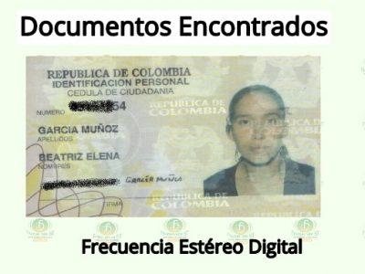 Se Encontró La Cédula De Ciudadanía De Beatriz Elena García Muñoz