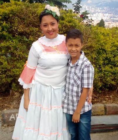 Alejandra Vargas Yépez líder comunitaria de la vereda la Loma del corregimiento de San Cristóbal