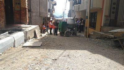 Avanzan obras de pavimentación en el sector La Capilla en San Antonio de Prado