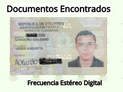 Se Encontró La Cédula De Ciudadanía De Jesús Augusto Londoño Galeano