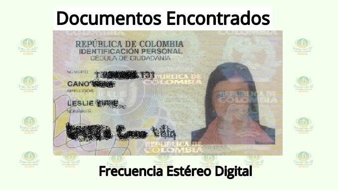 Se Encontró La Cédula De Ciudadanía De Leslie Yulie Cano Villa