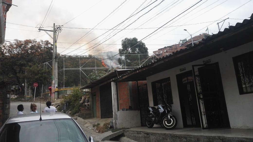 Incendio en la Comuna 13 Medellín