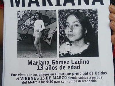 Otra Vez En Caldas, Esta Vez, Se Encuentra Desaparecida Mariana Gómez Ladino
