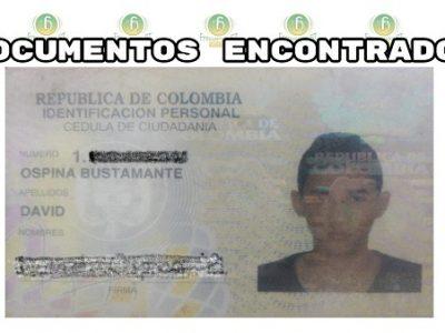 Se Encontró La Cédula De Ciudadanía De David Ospina Bustamante