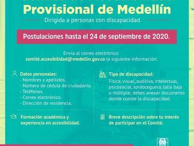 Alcaldía De Medellín Abrió La Convocatoria Para Conformar El Comité De Accesibilidad Para La Población Con Discapacidad