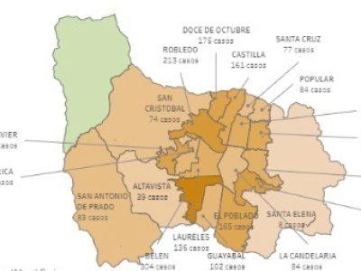 Así Van Los Casos De Covid19 En Los Corregimientos De Medellín.