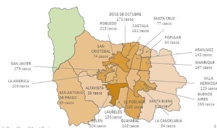 Casos de covid19 28 octubre San Antonio de Prado