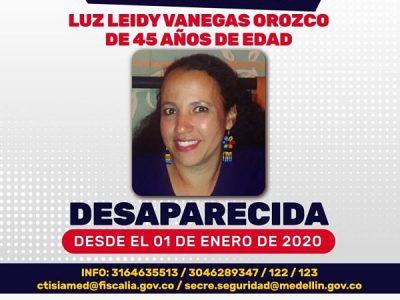 Sigue La Búsqueda De Luz Leidy Vanegas Quien Se Encuentra Desaparecida Desde Enero
