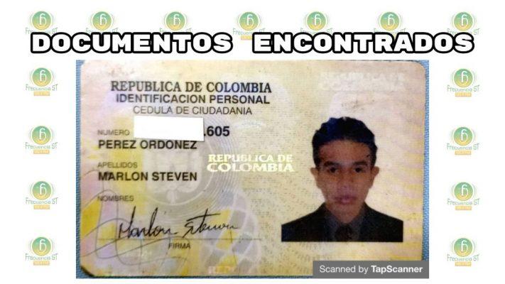 Se Encontró La Cédula De Ciudadanía De Marlon Steven Perez Ordoñez
