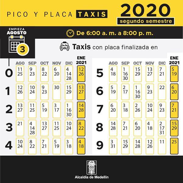 Taxis – pico-y-placa-medellin-segundo-semestre_opt