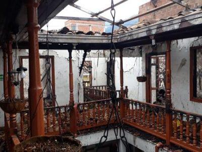 Globo Ocasiona Incendio Y Perdida Total En La Casa Cural De San Antonio De Prado