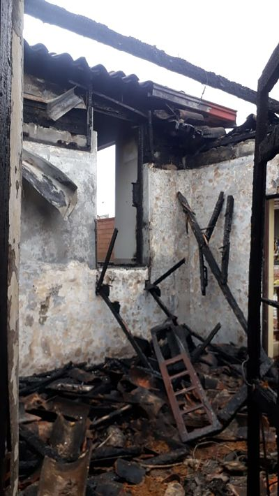 Incendio en casa Cural de San Antonio de Prado4.