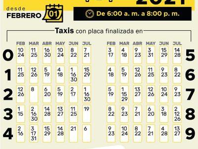 Este Es El Pico Y Placa Para El Día Jueves 25 De Febrero, Que Aplica Solo Para Taxis En El Valle De Aburrá
