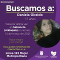 Se busca a Daniela Giraldo