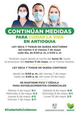 Pico Y Cédula Para El Día Domingo 9 De Mayo En Medellin Y El Valle De Aburrá