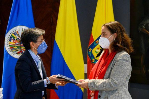 Alcaldesa De Bogotá Entrega Informe De Violaciones Al CIDH