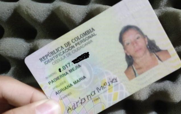 Se Encontró La Cédula De Adriana María Padierna Mejía