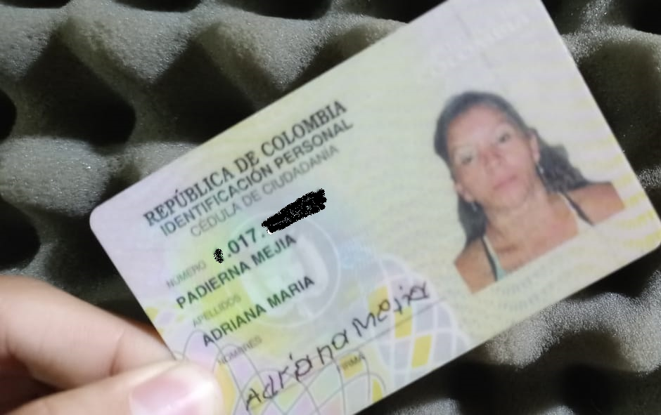 Cédula Adriana María Padierna Mejía