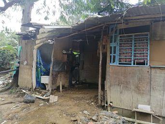 Casa Arrollada Por La Quebrada La Limona En El Corregimiento De San Antonio De Prado.