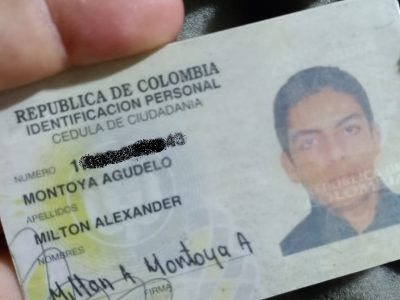 Se Encontró La Cédula De Milton Alexander Montoya Agudelo