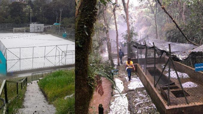 Cae Tremenda Granizada En El Municipio De Envigado