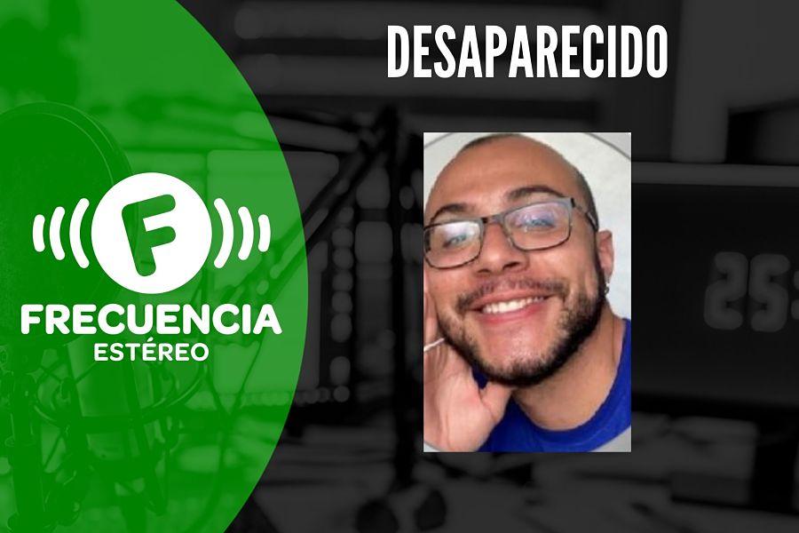 Gino Alejandro Vélez García se encuentra desaparecido