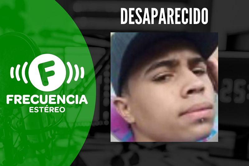 Jhonatan Stiven Duque Vélez desapareció en el barrio Santo Domingo