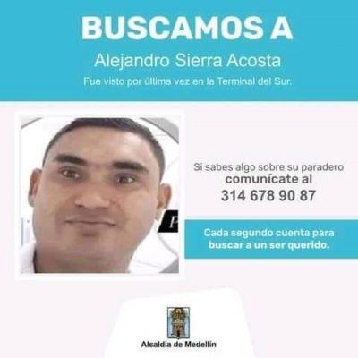 Alejandro Sierra Acosta, Se Encuentra Desaparecido Desde El Martes 27 De Julio