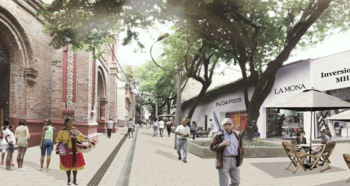 corredor peatonal Boyacá-San Benito