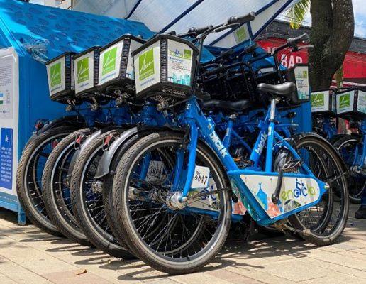 Llegaron Al Municipio De Bello Las Estaciones De Bicicletas Para La Ciclovia.