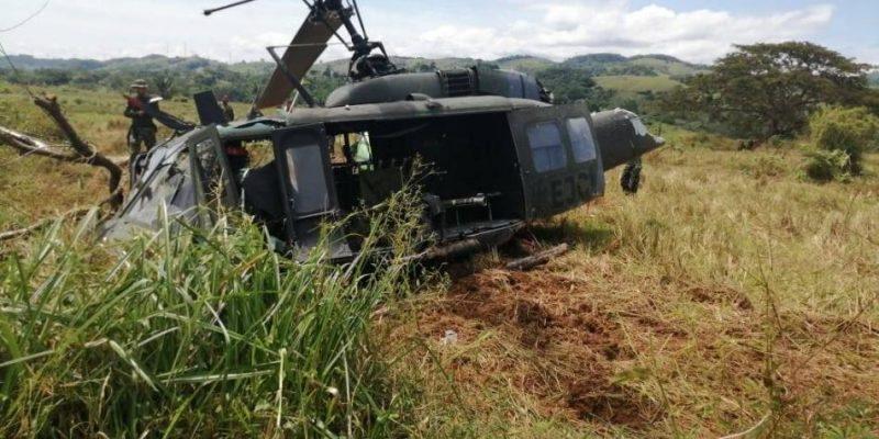 Susto En El Municipio De Cañasgordas Por Caída De Un Helicóptero