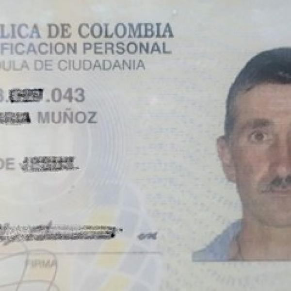 Se encontró la cédula de ciudadanía o documento de identidad de: Wilson de Jesus Echavarría Muñoz